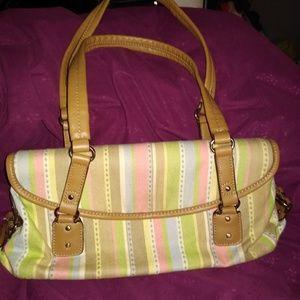 Striped canvas relic purse